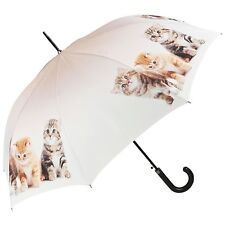 Von Lilienfeld Designer Automatic Walking Umbrella Kittens Trio Cat Lovers Gift