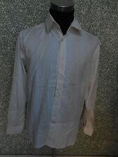 180 30i SIGNUM Uomo Designer Camicia TGL L We ISS Crema a righe maniche lunghe