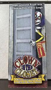 Spirit Halloween Clown in the Closet Prank Spencer Gifts Elf on the Shelf New