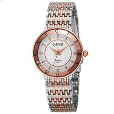 August Steiner Women's AS8178TTR Silver and Rose Gold Quartz Watch 5322