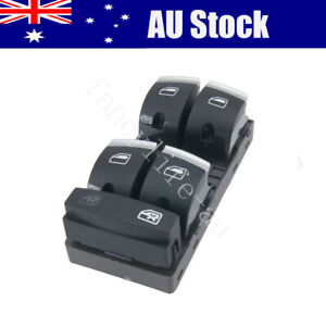 New Chrome Master Window Switch Button Panel  4F0959851H For Audi A3 S3 RS3 Q7