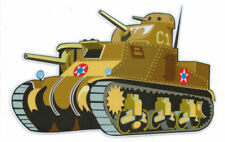 GENERAL LEE TANK DIE CUT LAMINATED VINYL STICKER 110X155MM ARMOUR