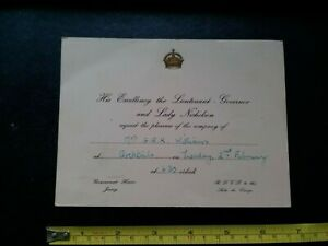 Jersey, Government House, 1955, Governors Official Invitation, Social History.