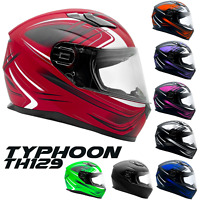 Full Face Motorcycle Adult Helmet DOT Matte Finish Retractable Sun Visor