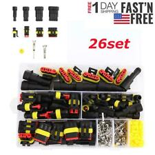 26sets 1-4 Pin Way Waterproof Car Auto Electrical Wire Connector Plug Automotive