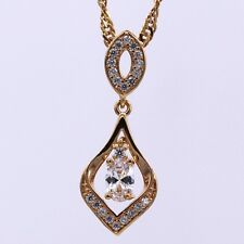 New Clear Crystal Zircon 18K Yellow Gold Plated Pendant Fashion Women Jewelry