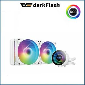 CPU Cooler Liquid DarkFlash Twister DX240 White ARGB Aluminium LGA 1151/2011/AM3