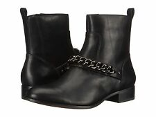 Coach Adella Chain Ankle Zip Boots Black Leather Women's 6 NEW IN BOX