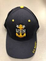 U.S. NAVY USN Master Chief Baseball Cap Hat US NAVY Military Uniform F/ All Size