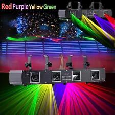 DMX512 rouge vert jaune violet lumière laser 4beams 420mw DJ SHOW Disco Bar Stage