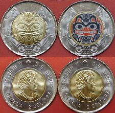 Brilliant Uncirculated 2020 Canada Xhuwaji Plain & Color 2 Dollars