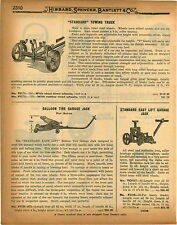 1926 PAPER AD Standard Car Auto Tow Towing Truck Balloon Tire Garage Lift Jack