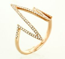 Heart Beats Diamond Ring ( Dia. 0.27cts) in 14k Rose or Yellow Gold