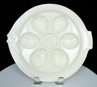 """CZECHOSLOVIAN PORCELAIN WHITE FISH SHAPED 6 WELL 11 3/8"""" OYSTER PLATE 1930'S"""