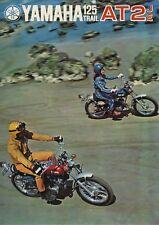 CATALOGUE, DÉPLIANT YAMAHA 125 TRAIL AT2 JE, RARE, PARFAIT, 1972
