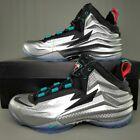 "Nike Chuck Posite ""Metallic Silver"" Basketball Shoes Black Blue 684758 001 SZ 8"