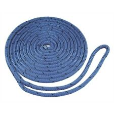 "Boat Marine Braided MFP Dock Line With Pre Sliced Eye 3/8"" X 15' Blue Floats"