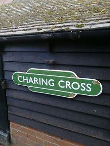 CHARING CROSS totem enamel sign British Rail Charing Cross sign br station rail