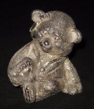 "Lisham Art Rotem Judaica 925 Sterling Silver, MAMA BEAR Figurine, 3 3/8"""