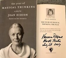 Vanessa Redgrave Signed Joan Didion Year Of Magical Thinking Book. The Play.