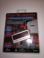 Body Billboards LED Name Tag, Moving Display,Programmable,50 characters,5 speeds