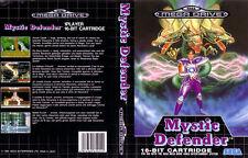 Mystic Defender Sega Mega Drive PAL Caja De sustitución Cubierta Estuche De Arte insertar REPRO