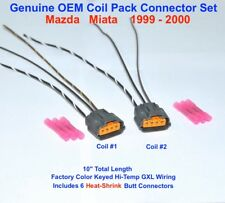 Mazda Miata Ignition Coil Pack Engine Harness Connector Plug Pigtail SET 99 00
