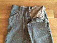 RRL Ralph Lauren Mens Gray Tweed Wool Blend Pants Trousers Size 28 x 27 $490