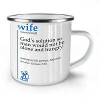 Wife God NEW Enamel Tea Mug 10 oz | Wellcoda
