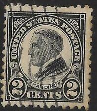 2v0573 Scott 610 US Stamp 1923 2c W. G. Harding Used
