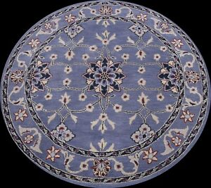 Floral Traditional Oriental Area Rug Classic Wool Hand-tufted Carpet 6'x6' Round