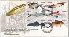 BRAZIL -  POSTAL HISTORY - FDC COVER : FISH  1988