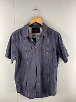 Ben Sherman Men's Short Sleeve Button Up Shirt Size Large Blue