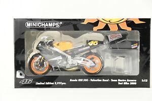 MINICHAMPS 1/12 Honda NSR500 Valentino Rossi Test Bike 2000 Diecast NIB