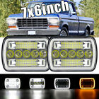 Dot 7x6 Square Led Headlight Highlow Drl For Ford Ford F150 F250 F350 Trucks