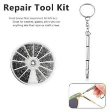 Stainless Steel Small Screws Nuts Assortment Kit Glasses G7L3 Tool Repair Z3N6