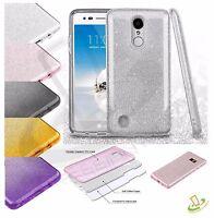 For LG Stylo 3 / Plus Hybrid Bling Glitter Rubber Protective TPU Hard Case Cover
