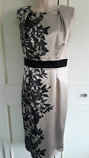 WOW **COAST** gold & black pencil/wiggle dress ~ size 8/10 ~ calf length