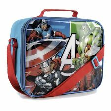 Marvel Avengers Kids Blue Boys Insulated Lunch Bag School Travel Holder