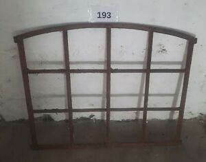 Altes Originales Dänisches Rundbogen Gussfenster H.: 77 cm B.: 94 cm