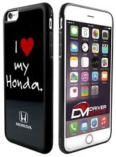 "Cell Phone Case Cover for Apple iPhone 6 I ""HEART"" MY HONDA Logo Black White Red"