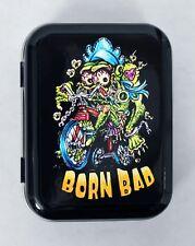JOHNNY ACE BORN BAD MONSTER BABY TRIKE BIKE MOM FINK HINGED TOBACCO TIN PILL