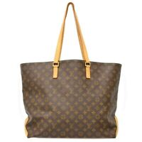 Louis Vuitton Cabas Alto M51157 Monogram Shoulder Tote Hand Bag Purse Brown LV
