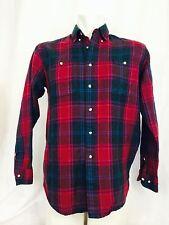 Vintage 1970 Birkdale-Eaton Plaid Shirt Men's Medium Check Plaid Red Green