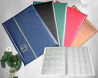 10 Pages Coin Stock Book 200 Pocket Album for 2x2 Paper Flip Holders Storage