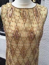 Vintage Flapper Style Dress Hand Beaded