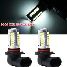 New 2Pcs 9005 HB3 5630 33SMD 6500K Super White LED Lamp Headlight Fog Light 12V
