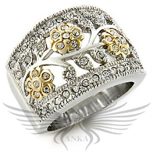 Brilliant Classy Top Grade Round Crystals Fashion Cocktail Ring 7 8 9 10 97207