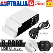 8 Port USB Desktop Wall Charger 5v 8a Charging Station AU Plug for iPad iPhone