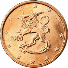 [#721312] Finland, 2 Euro Cent, 2000, ZF, Copper Plated Steel, KM:99